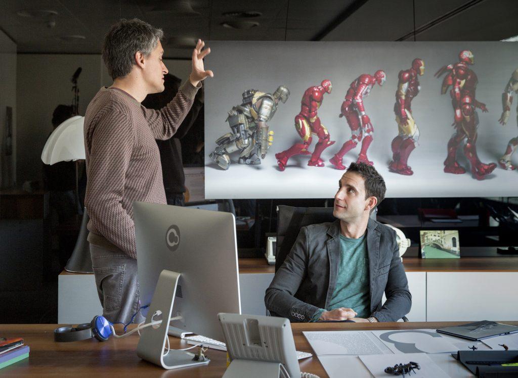 Marcel Barrena, durante el rodaje de '100 metros', con Dani Rovira / FILMAX