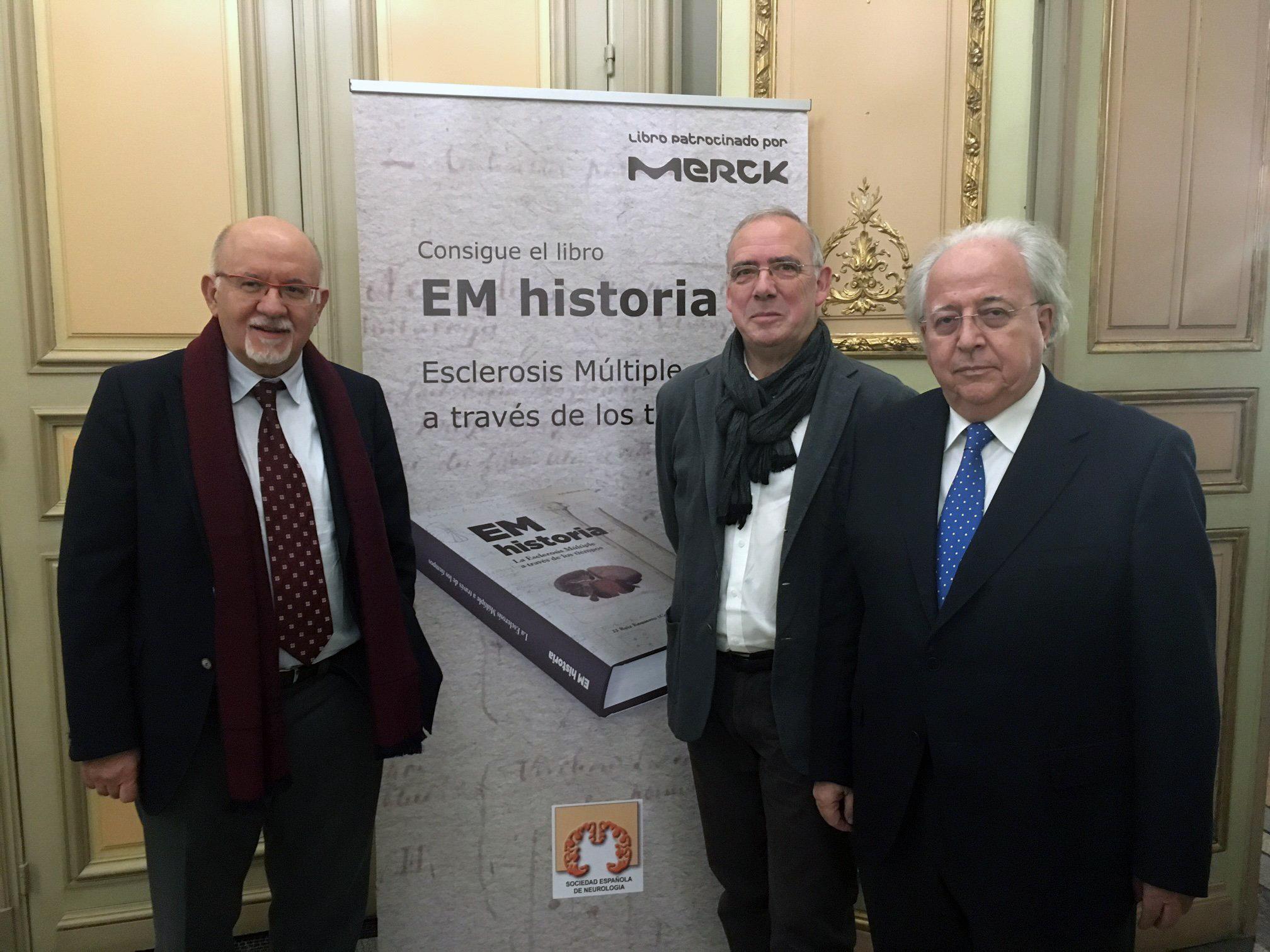 Manuel Arias, Juan José Ruiz Ezquerro y Óscar Fernández durante la presentación del libro / Merck España